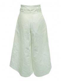 Pantaloni European Culture Lux Mood a palazzo bianchi acquista online