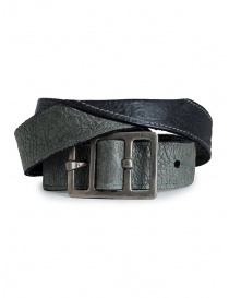 Carol Christian Poell belt in black bison leather