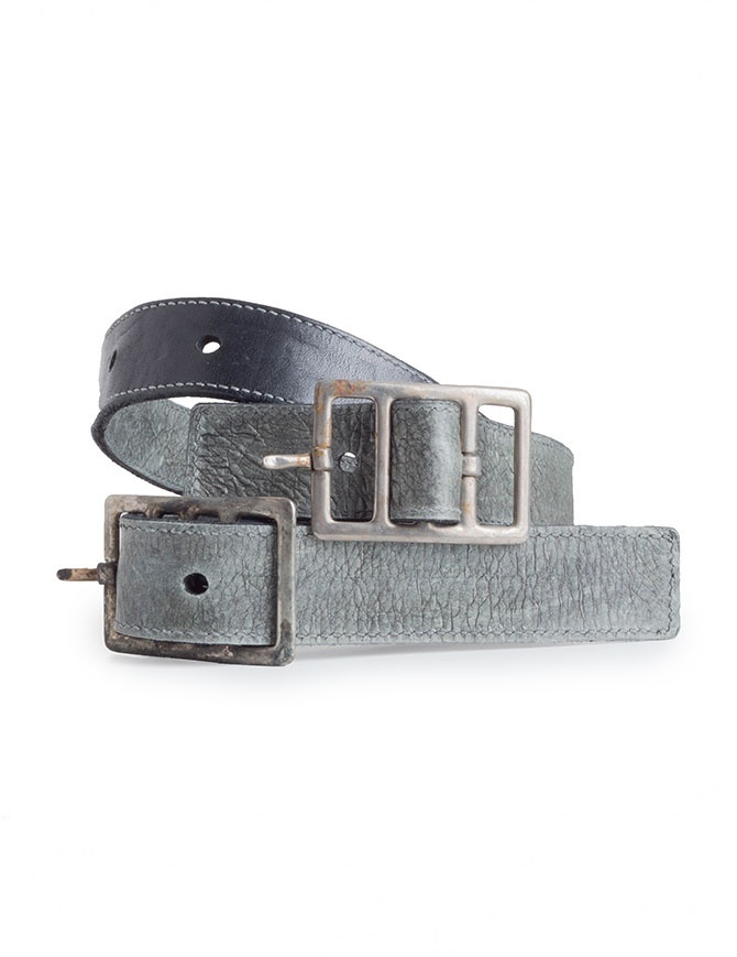 Carol Christian Poell black belt split in two parts in cow leather AM/2624-IN PABEL-PTC/010 belts online shopping