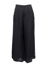 Womens trousers online: European Culture Lux Mood navy trousers