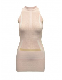 Vestito Yasmin Naqvi rosa geometrico SCD04 BIANCO/ROSA order online