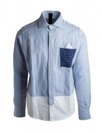 Camicia Maurizio Massimino taschino blu scontati online
