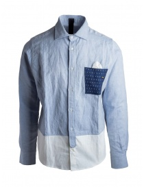 Maurizio Massimino blue pocket shirt on discount sales online