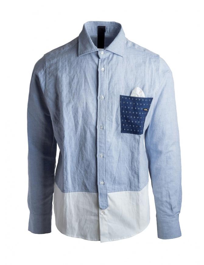 Camicia Maurizio Massimino taschino blu CODY camicie uomo online shopping