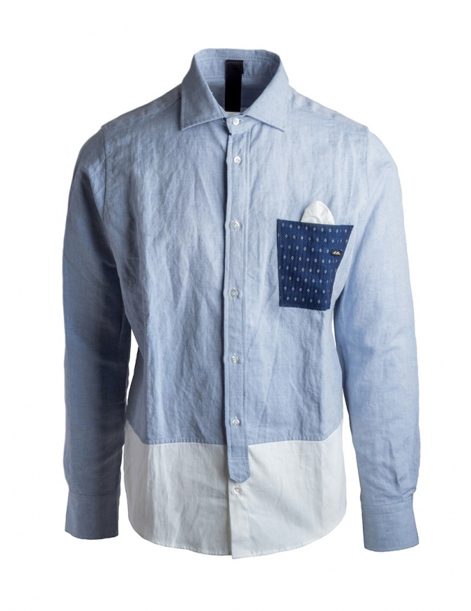 Maurizio Massimino blue pocket shirt CODY mens shirts online shopping