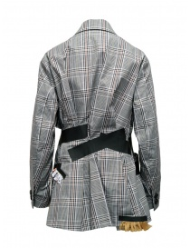 Kolor jacket with black stripes and white checkered pattern