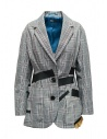 Kolor jacket with black stripes and white checkered pattern buy online 19SCL-J01156 WHITE CHECK