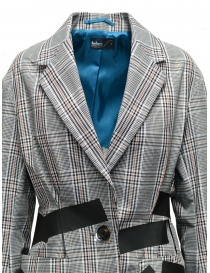 Kolor jacket with black stripes and white checkered pattern price