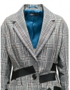 Kolor jacket with black stripes and white checkered pattern 19SCL-J01156 WHITE CHECK price