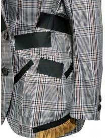 Giacca Kolor con bande nere e fantasia a quadri bianca giacche donna acquista online