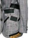 Giacca Kolor con bande nere e fantasia a quadri bianca 19SCL-J01156 WHITE CHECK acquista online