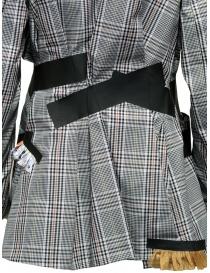 Giacca Kolor con bande nere e fantasia a quadri bianca giacche donna prezzo