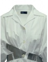 Kolor silver stripes white shirt 19SCL-B03151 WHITE price