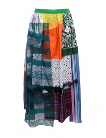 Kolor skirt light tone patchwork 19SCL-S01151 LIGHT TONE