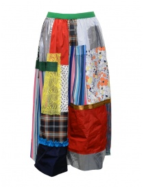 Kolor skirt light tone patchwork buy online