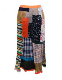 Kolor pleated skirt with patchwork