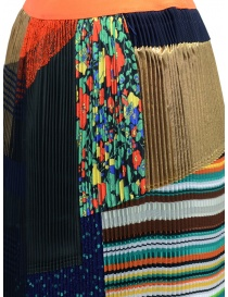 Kolor pleated skirt with patchwork womens skirts buy online