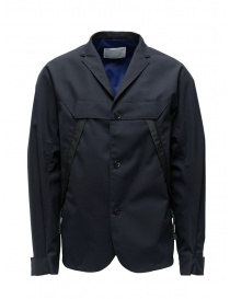 Mens suit jackets online: Kolor jacket diagonal pockets dark navy