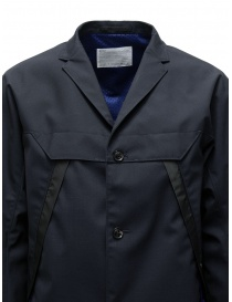 Kolor jacket diagonal pockets dark navy price