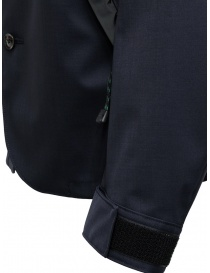Kolor jacket diagonal pockets dark navy mens suit jackets price