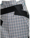 Kolor skirt with blue white black checkered pattern 19SCL-S04154 BLUE CHECK price