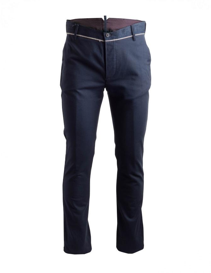 Pantaloni Maurizio Massimino colore blu PHIL pantaloni uomo online shopping