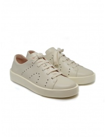 Mens shoes online: Camper Courb pierced beige sneakers (man)