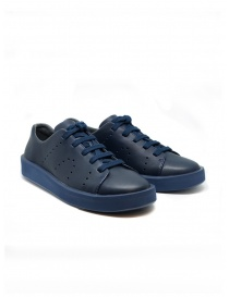 Mens shoes online: Camper Courb pierced navy sneaker (man)