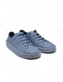 Womens shoes online: Camper Courb pierced light blue sneaker (woman)