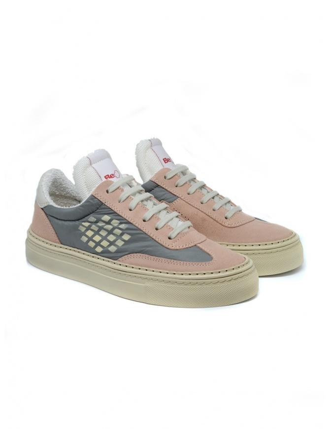 BePositive Roxy pink suede sneaker 9SWOARIA14/NYL/NUD womens shoes online shopping