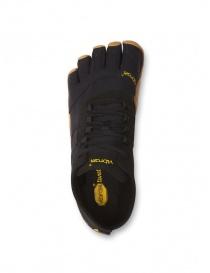 Scarpa nera Vibram Fivefingers con suola marrone prezzo