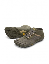 Vibram Fivefingers V-TREK men's army green and grey shoes 18M-W7402 V-TREK FIVEFINGERS