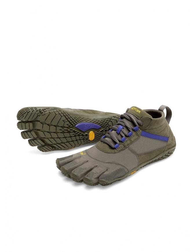 Scarpa Vibram Fivefingers verde militare viola da donna V-TREK 18W-7402 V-TRK FIVEFINGERS calzature donna online shopping