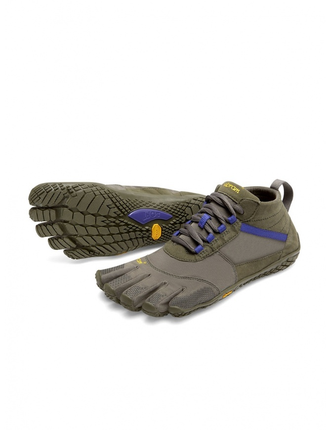 Vibram Fivefingers women's army green purple shoes V-TREK 18W-7402 V-TRK FIVEFINGERS