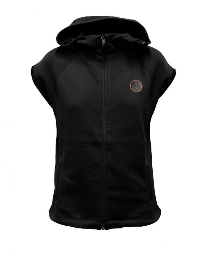 Ze-Knit by Napapijri Ze-K129 hooded sleeveless black sweatshirt N0YIIA041 ZE-K221 BLACK womens knitwear online shopping