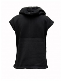 Ze-Knit by Napapijri Ze-K129 hooded sleeveless black sweatshirt
