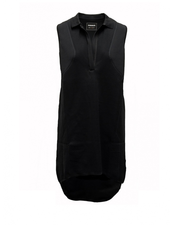 Ze-Knit by Napapijri black polo dress Ze-K222 N0YIOG041 ZE-K222 BLACK womens dresses online shopping