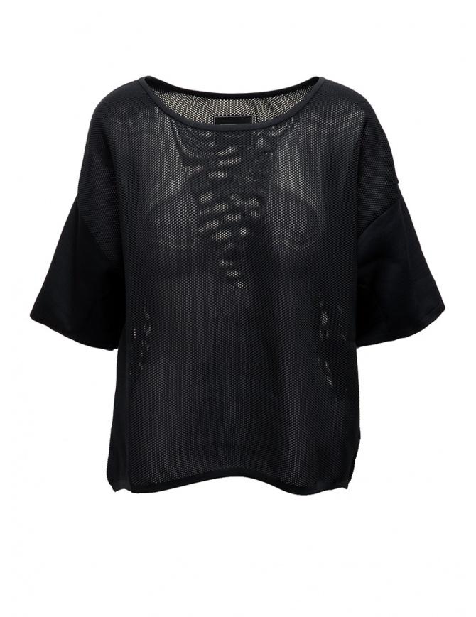 Maglia Ze-K228 nera a rete Ze-Knit by Napapijri N0YIOL041 ZE-K228 BLACK t shirt donna online shopping