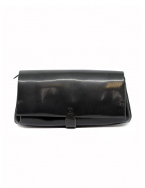 Wallets online: Delle Cose black polished horse leather wallet