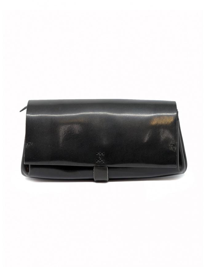 Delle Cose black polished horse leather wallet 81 HORSE BLK 26 POLISHED wallets online shopping