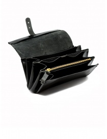 Delle Cose black polished horse leather wallet