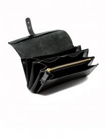 Portafoglio Delle Cose in pelle di cavallo lucidata nera portafogli acquista online