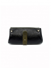 Delle Cose khaki and black calf leather wallet