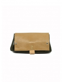 Delle Cose beige and khaki calf leather wallet 82 BABYCALF VARN.BEIGE/KHAKI