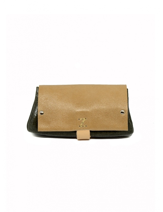 Delle Cose beige and khaki calf leather wallet 82 BABYCALF VARN.BEIGE/KHAKI wallets online shopping