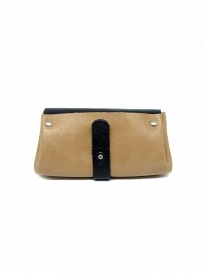 Delle Cose black and beige calf leather wallet