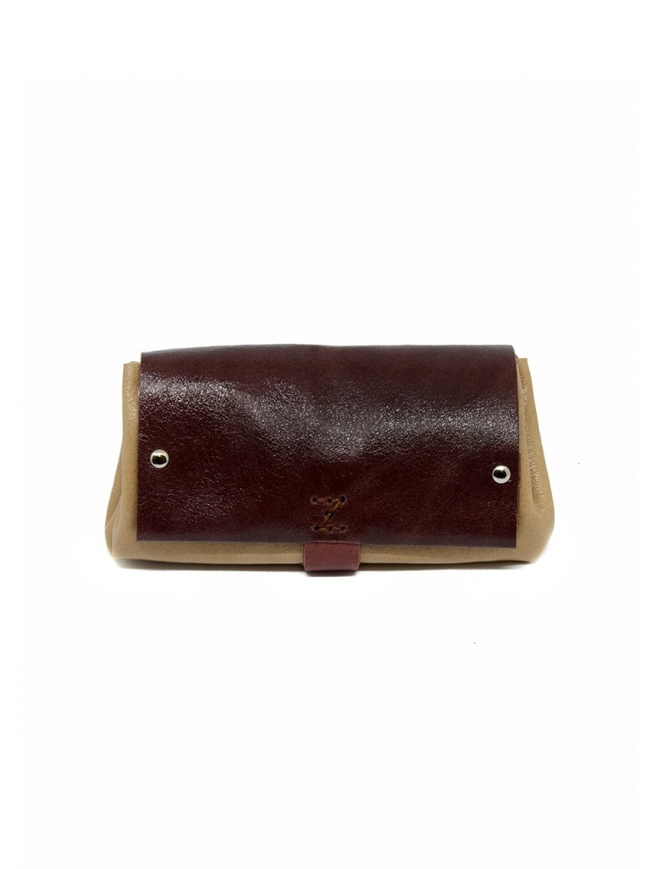 Delle Cose bordeaux and beige calf leather wallet 82 BABYCALF VARN.BORD/BEIGE wallets online shopping