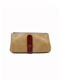 Delle Cose bordeaux and beige calf leather wallet