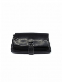 Wallets online: Delle Cose black polished horse leather small wallet