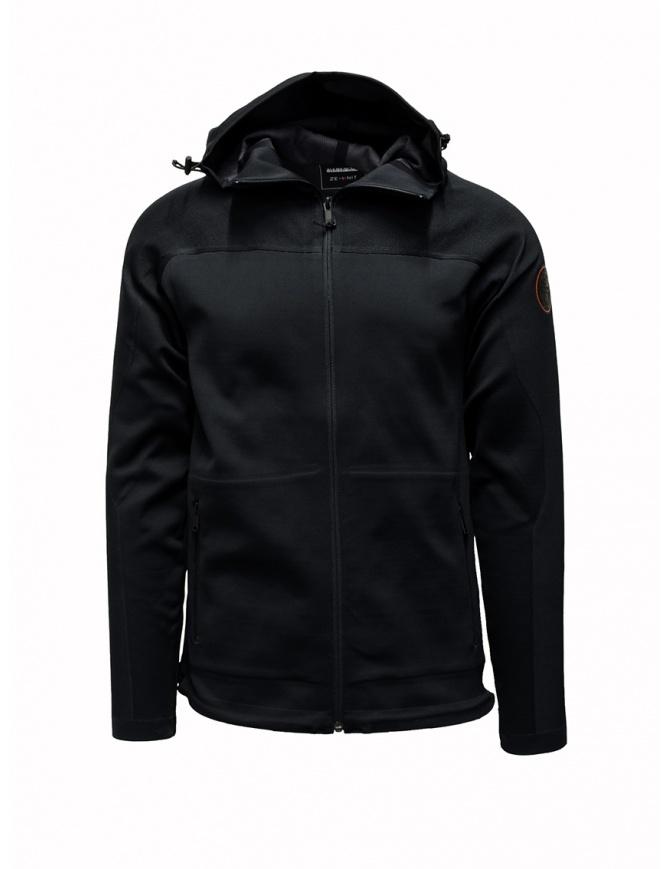Ze-Knit by Napapijri Ze-K129 hooded black sweatshirt N0YIOO041 ZE-K129 BLACK mens knitwear online shopping